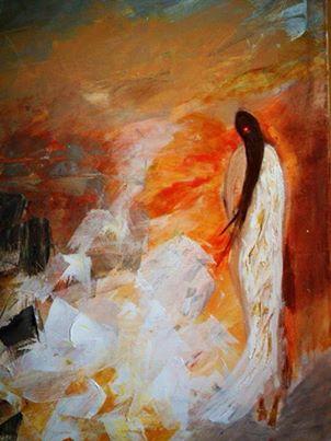 من أعمال التشكيلية الليبية .. خلود الزوي