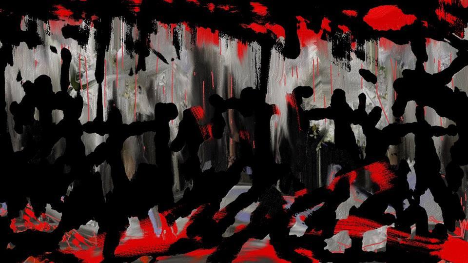 اللوحة للفنان الليبي معتوق أبوراوي.