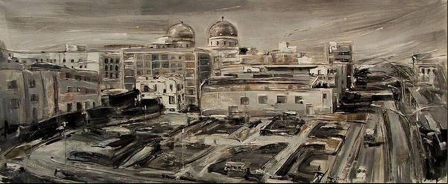 مدينة بنغازي كما رسمتها الفنانة الإيطالية تيزيانا فانيتي