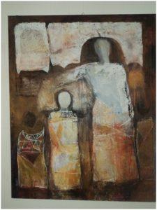 من أعمال التشكيلي الليبي حسن ديهوم