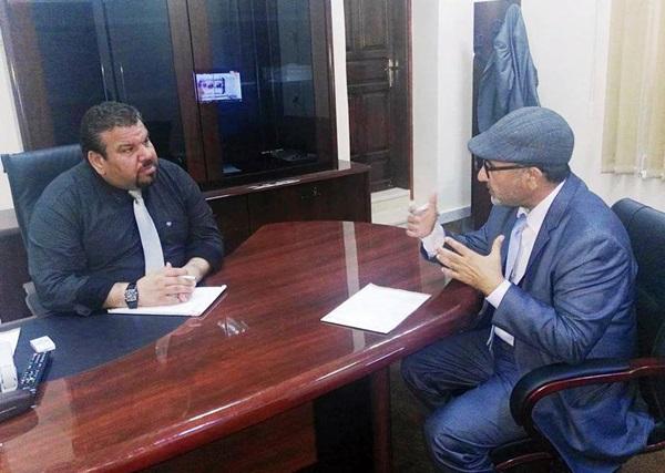 رئيس الهيئة يلتقي رئيس رابطة الأدباء والكتاب الليبيين السابق.