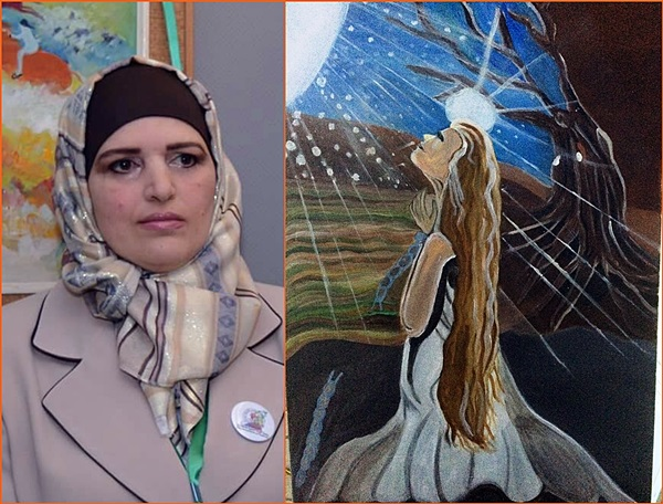 الفنانة سحر عزام.