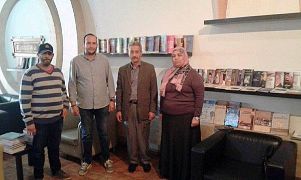 افتتاح مكتبة بمقهى أكاكوس.