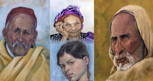 من أعمال الفنان التشكيلي محمود الحاسي.