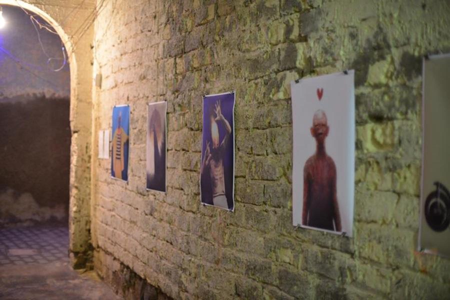 معرض أبدية للتشكيلي سالم بحرون. الصورة: مؤسسة ورق للفنون.