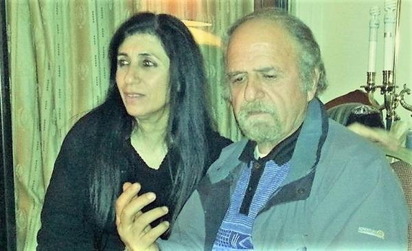 الشاعر العرافي فائز الحداد والشاعرة الفلسطينية آمال عواد رضوان.
