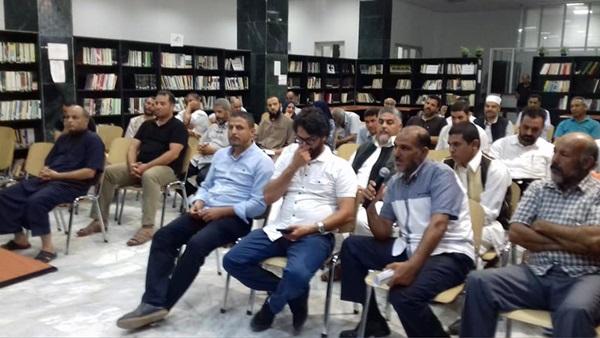 لقاء حول مبادرة مكتبة في كل حي. الصورة: د.مصطفى بديوي.