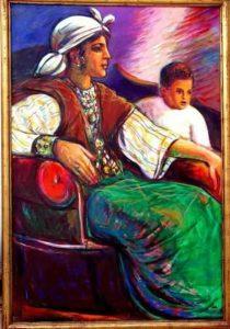 من أعمال التشكيلي الليبي الطاهر المغربي.