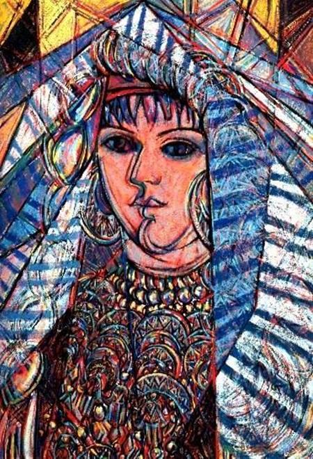من أعمال التشكيلي الليبي بشير حمودة.