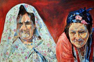 من أعمال التشكيلية الليبية مريم العباني.