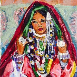 من أعمال التشكيلية الليبية نجلاء الفيتوري.
