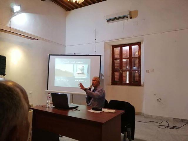 الأستاذ سيف الدين الحسناوي، ومحاضرة حول قوانين حماية الموروث الثقافي الليبي.