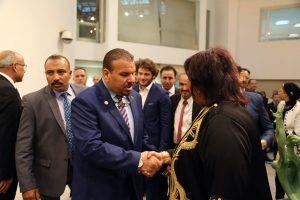 وزيرة الثقافة المصرية تستقبل وزير الثقافة الليبي.