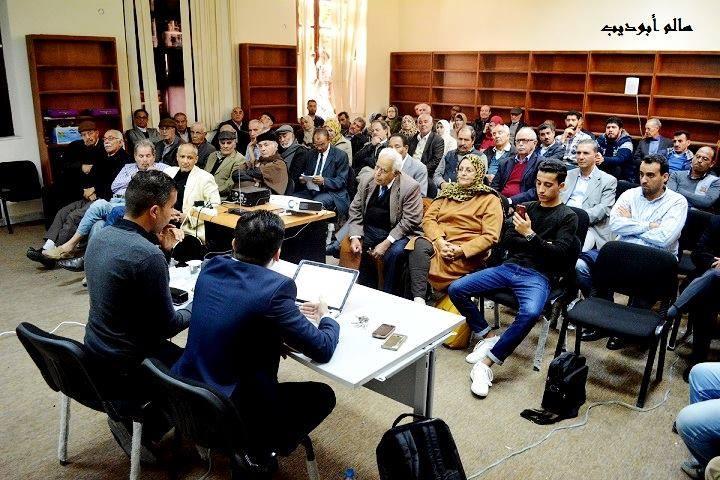 محاضرة: عبد الحميد البكوش . . وقائع حقبة حرجة (تصوير: سالم أبوديب).