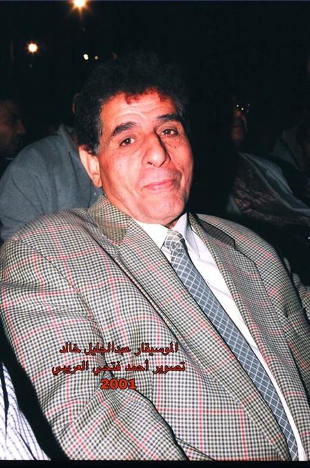 الفنان عبدالجليل خالد (تصوير: أحمد فتحي العريبي)