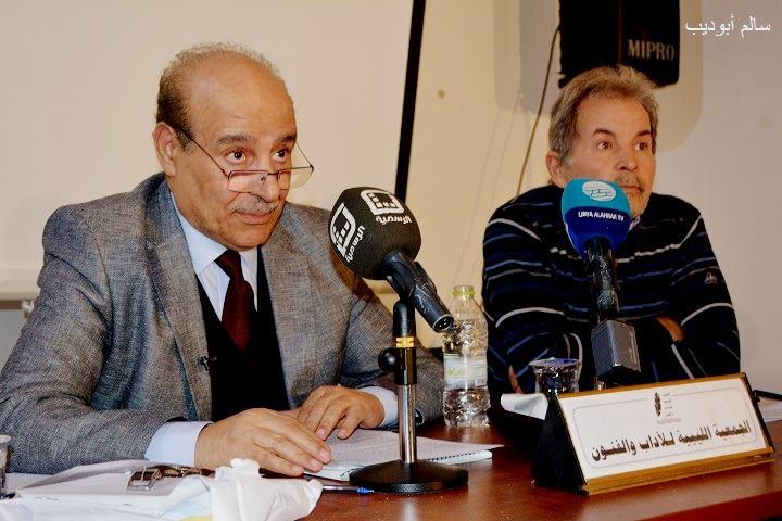 الأستاذان؛ رضا بن موسى ومحمود أبوصوة (تصوير: سالم أبوذيب).