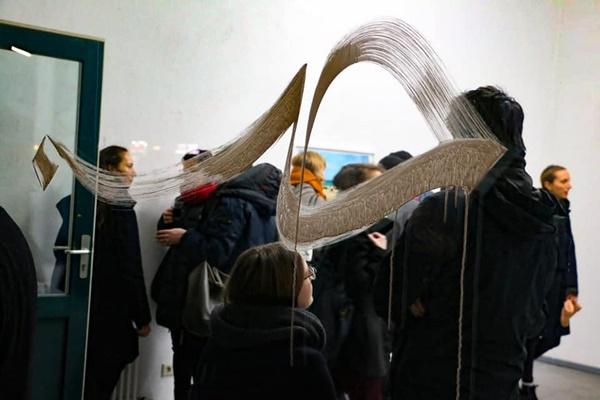 معرض برلين للتشكيلية تقوى أبوبرنوسة 2019.