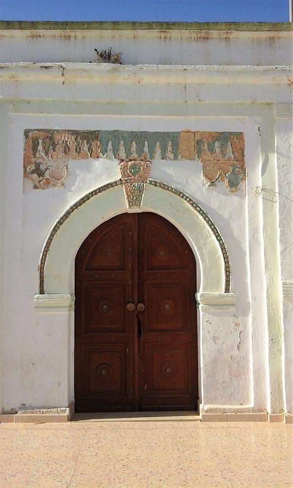 مدخل الزاوية السنوسية في مدينة البيضاء