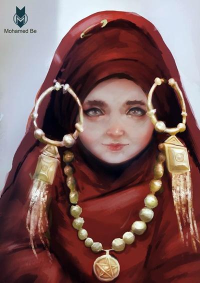 من أعمال التشكيلي محمد بشير