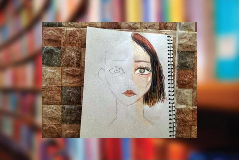 اللوحة للمبدعة جنى جمال الجديد