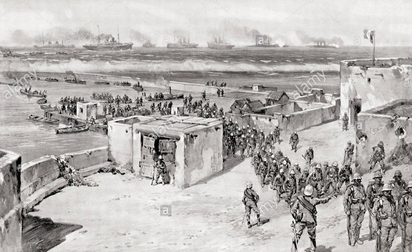 الانزال الايطالي على شواطىء بنغازي اكتوبر 1911