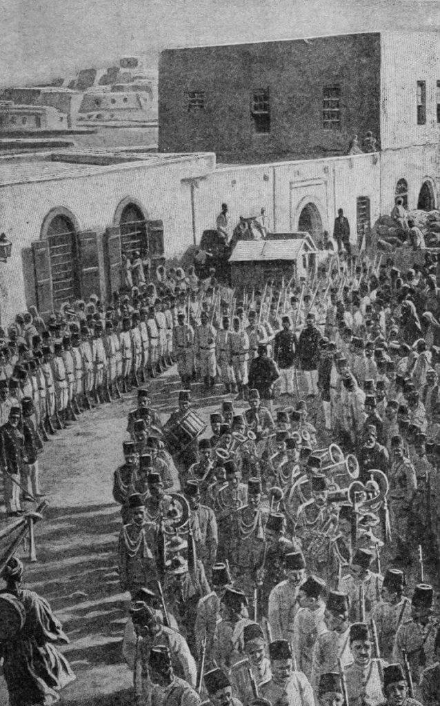 الجنود العثمانيون في طرابلس 1902
