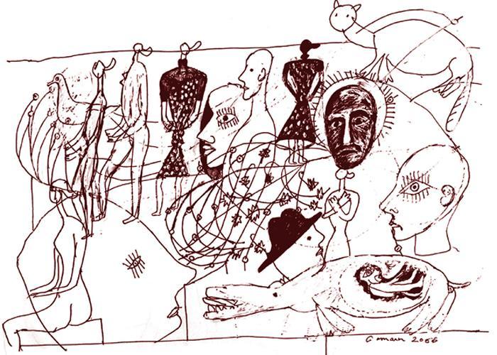 الحرب.. تخطيط حسين جمعان