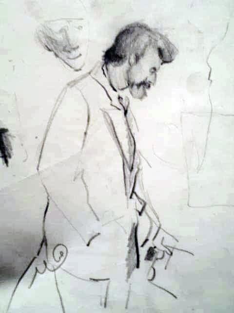 من أعمال الفنانة حميدة صقر خلال فترة الدراسة بكلية الفنون والاعلام، طرابلس 1996-2000 (فترة وجود الراحل الدكتور نافع الخطيب)