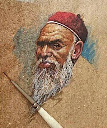 الشاعر امحمد قنانة الزيداني بريشة الفنان صلاح الشاردة.