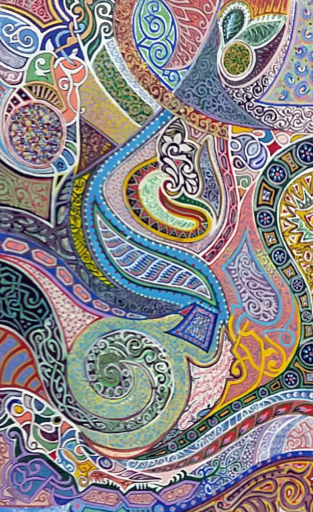 من أعمال التشكيلي محمد التونسي